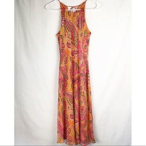 NWT Ann Taylor Paisley Midi Dress 2